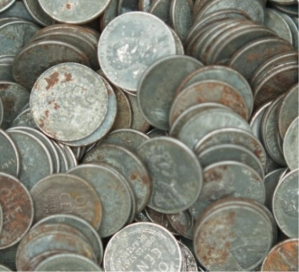 36S: (100) Steel Cents WWII