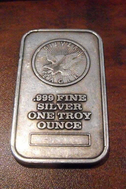 2: 1 Troy Oz Silver Bar Bullion