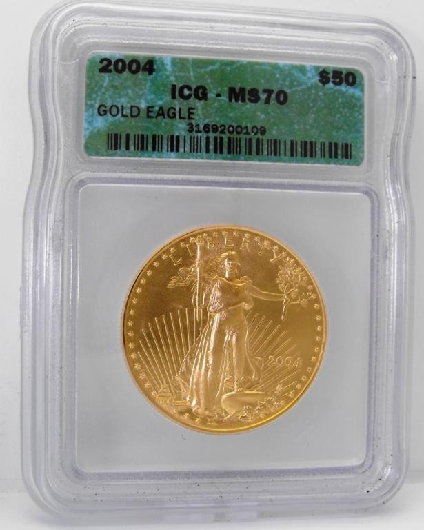 3: 2004 MS 70 Gold 1 oz. Eagle ICG