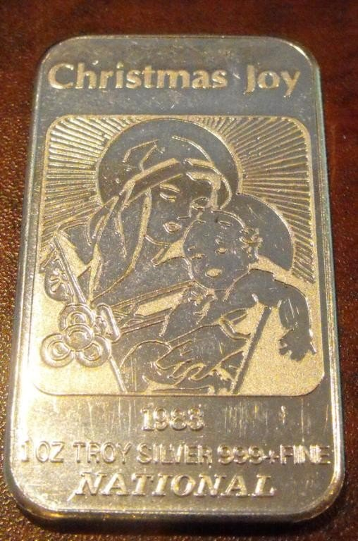 4: 1 Troy Oz Silver Bar Bullion