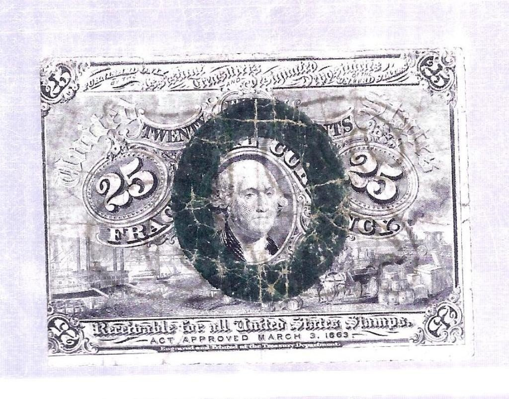 5: 1863 Fractional Currency 25 cents