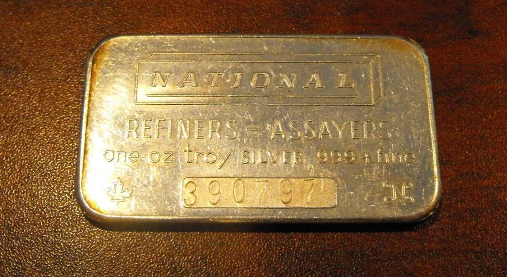6: 1 Troy Oz Silver Bar Bullion