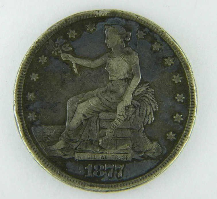 11: 1877 US TRADE Dollar - Toned