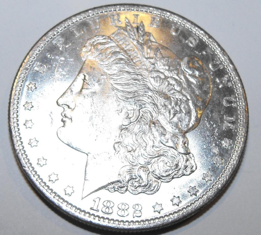 3: 1882 O BU Morgan Silver Dollar