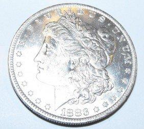 1883 O Bu Morgan Silver Dollar