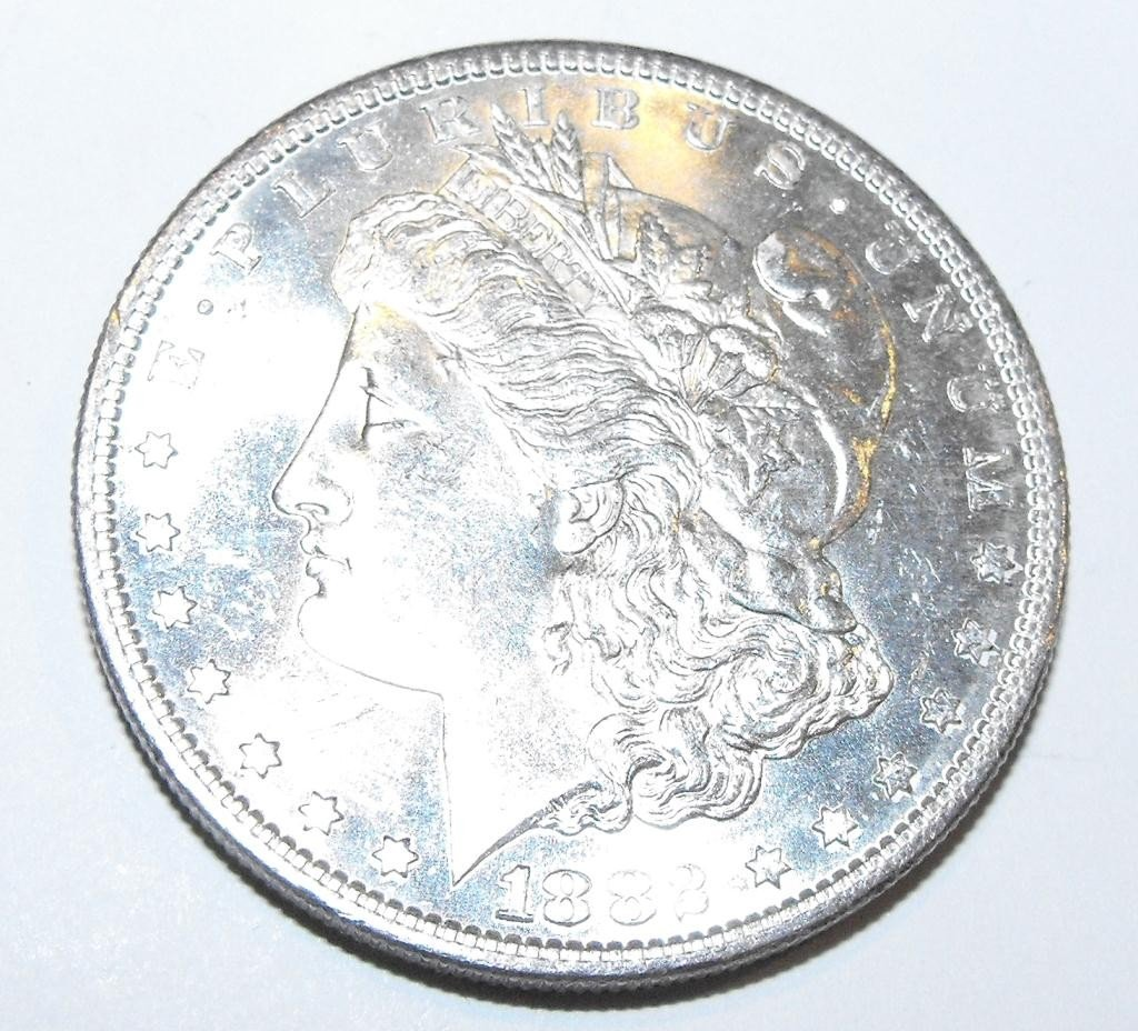 25: 1882 O BU Morgan Silver Dollar