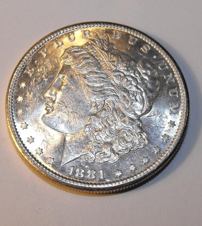 30: 1881 S PL Surface Morgan Silver Dollar