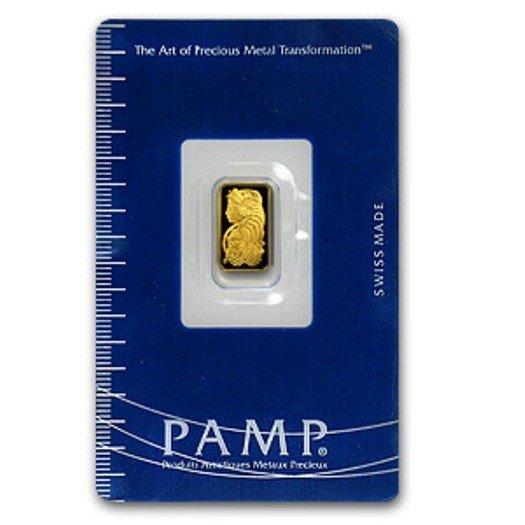 5B: 1 Gram Pamp Suisse Ingot
