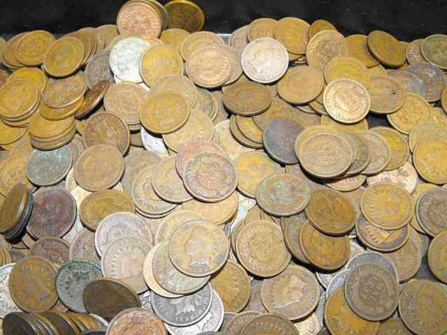 2S: Lot of 100 Indian Head Cents - From Photo