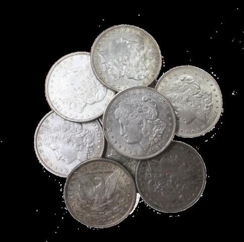 4S: Lot of 10 UNC Morgan Dollars