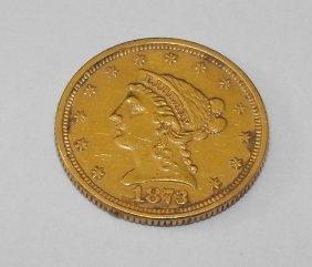 1A: 1873 P $2.5 Gold Liberty Coin