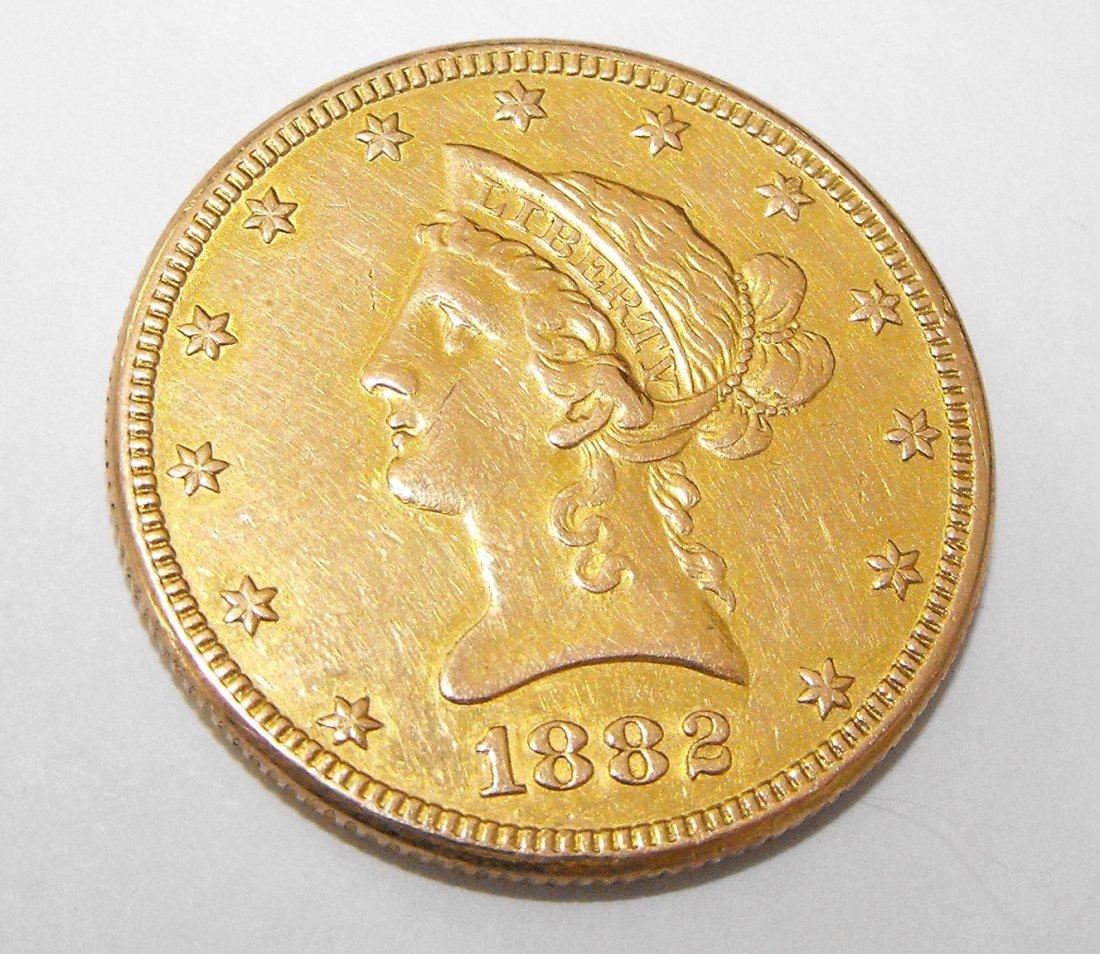 2A: 1882 P $ 10 Gold Liberty Eagle Coin
