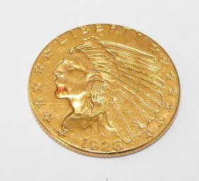 3A: 1926 P $ 2.5 Gold Indian Quarter Eagle