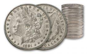 2R: (20) Morgan Silver Dollars- AG XF