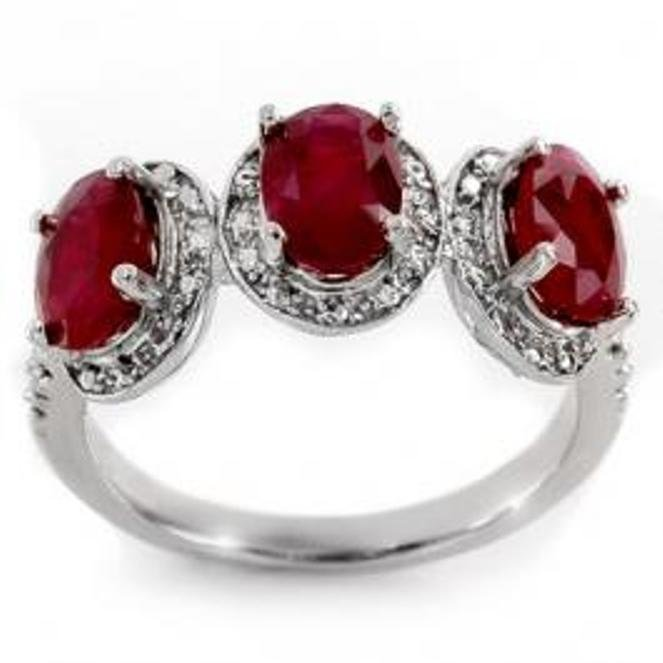 1D: 3.08 ctw Ruby & Diamond Ring 10K