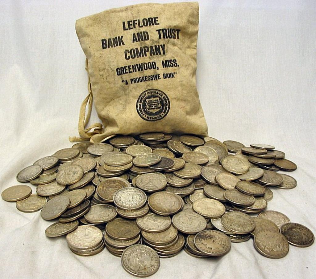 52C: Bag of 500 Morgans- 90% Silver - Possible Keys