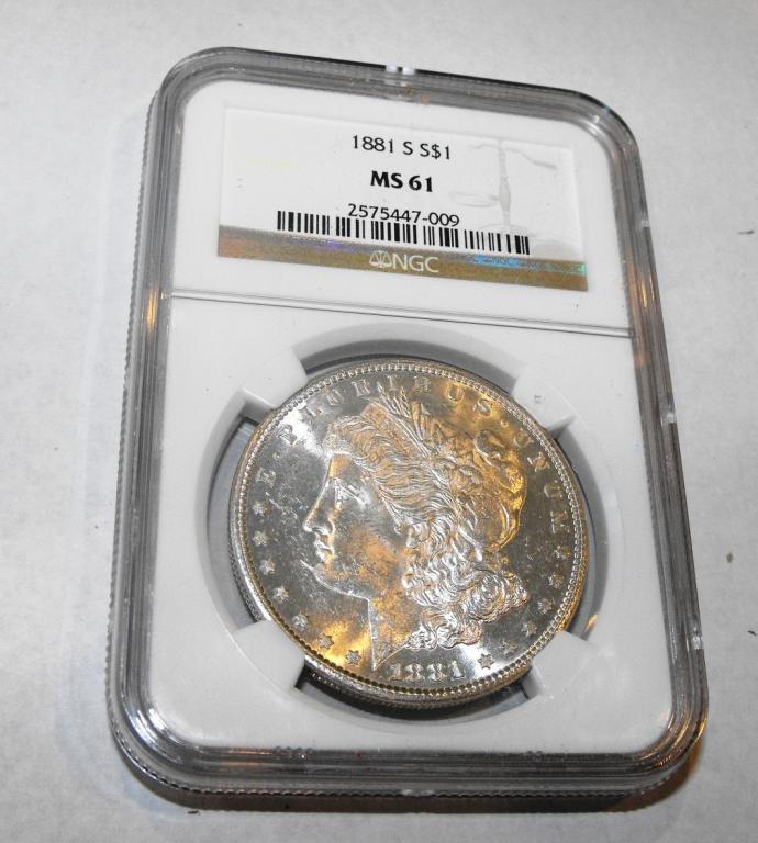 3Z: 1881 S MS 61 NGC Morgan Dollar