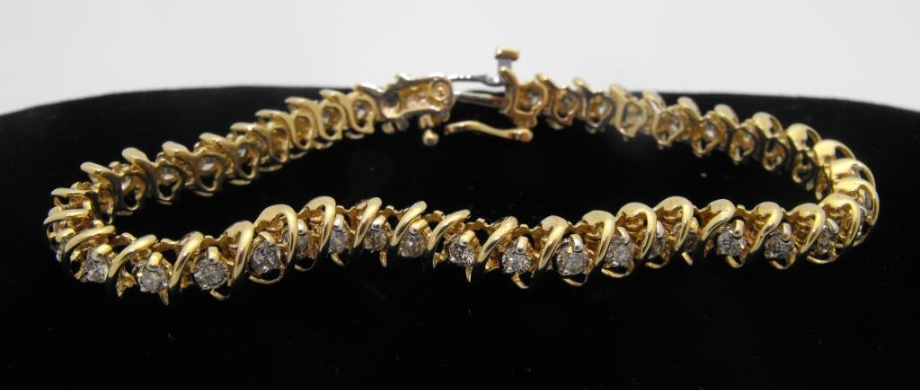 2: 14k YG Ladies Diamond Tennis Bracelet