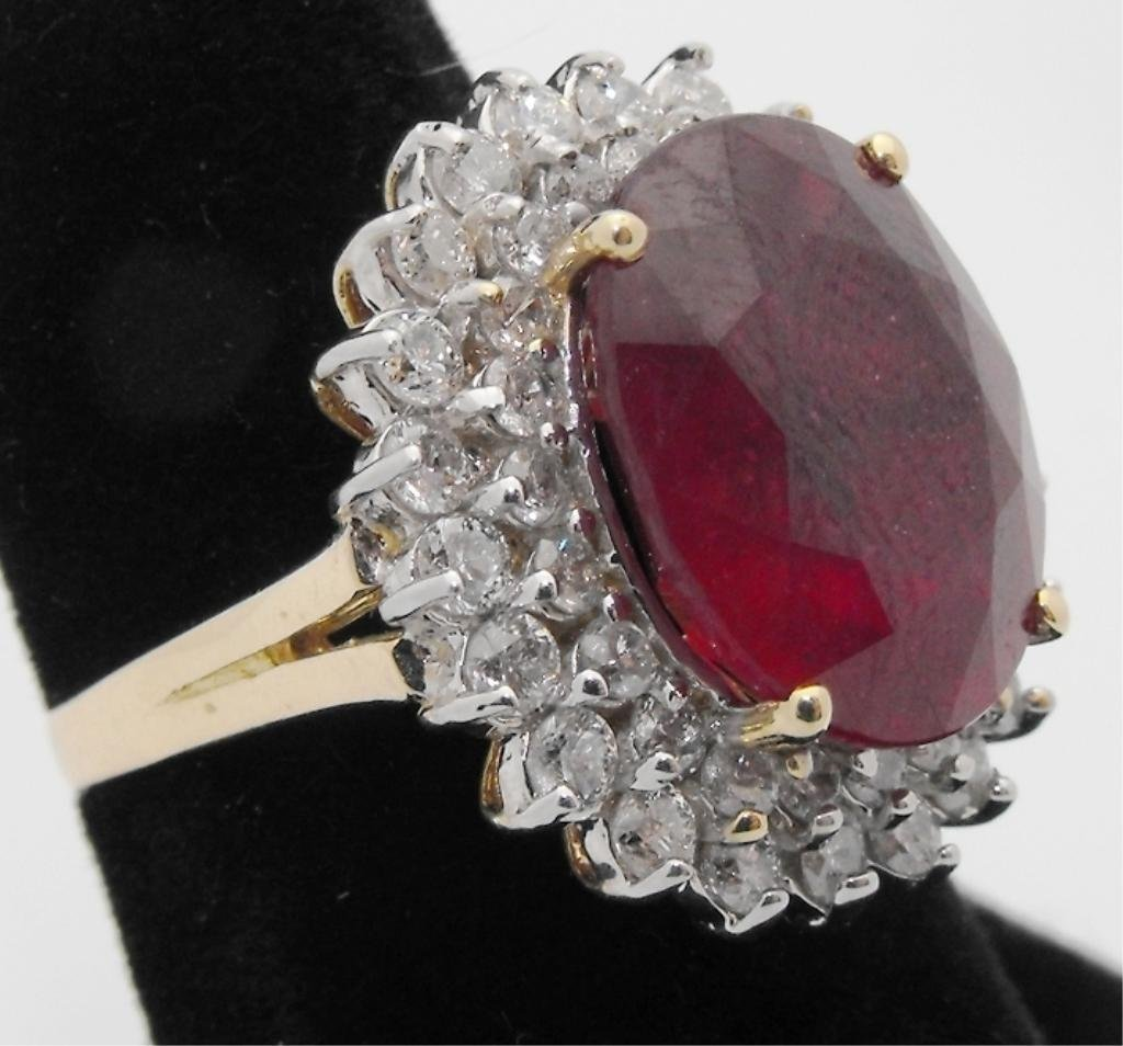 3: 11.11 ct. Ruby Ring w/ 1.55 ct Dia. $23K GIA