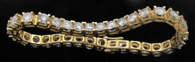 1X: 12 cts. PLUS VS-SI 1 Diamond Tennis Bracelet - 14K