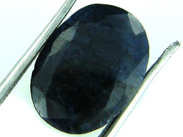 2V: 4 ct. Natural DEEP Dark Blue Sapphire