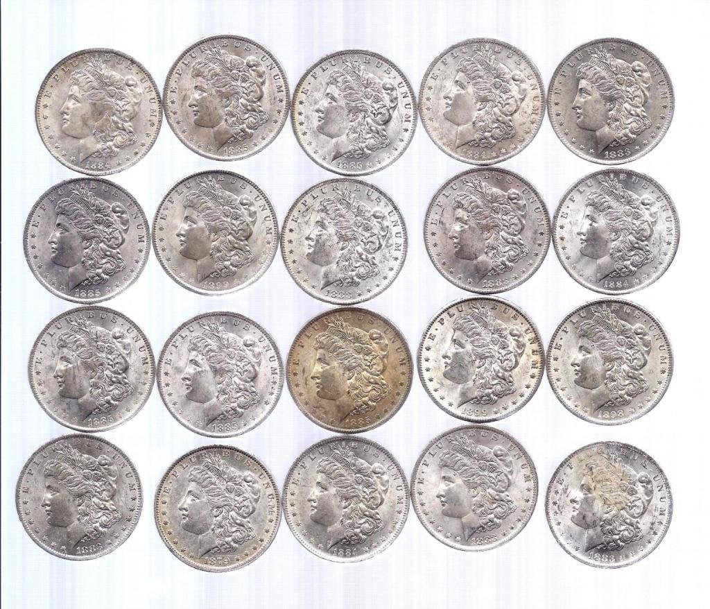 34D: Lot of 20- New Orleans Mint BU Morgans