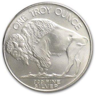 22: A 1 oz. Silver American Buffalo Bullion