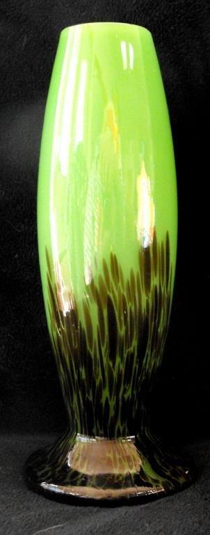 1A: Czech Art Glass Vase