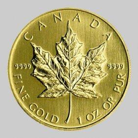 1 Oz Gold Maple Leaf Bullion Coin