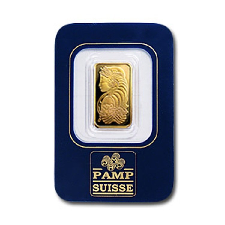 16C: 2.5 Gram Pamp Suisse Gold Ingot
