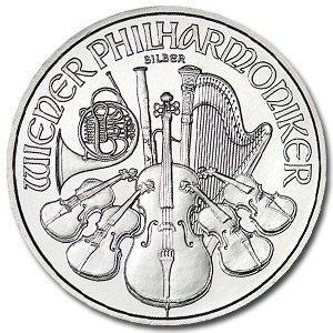 17C: (10) Austrian Philharmonic Silver Bullion 1 oz