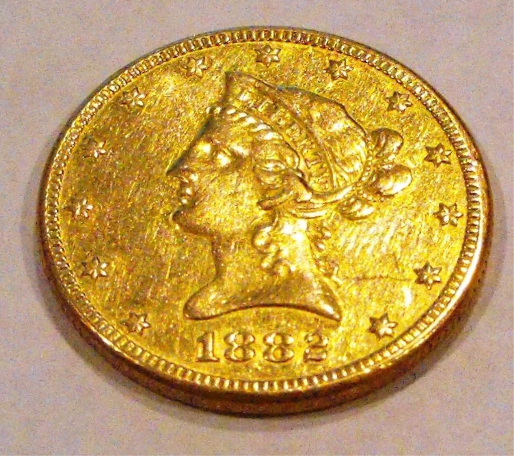 4: 1882 $ 10 Gold Liberty Eagle