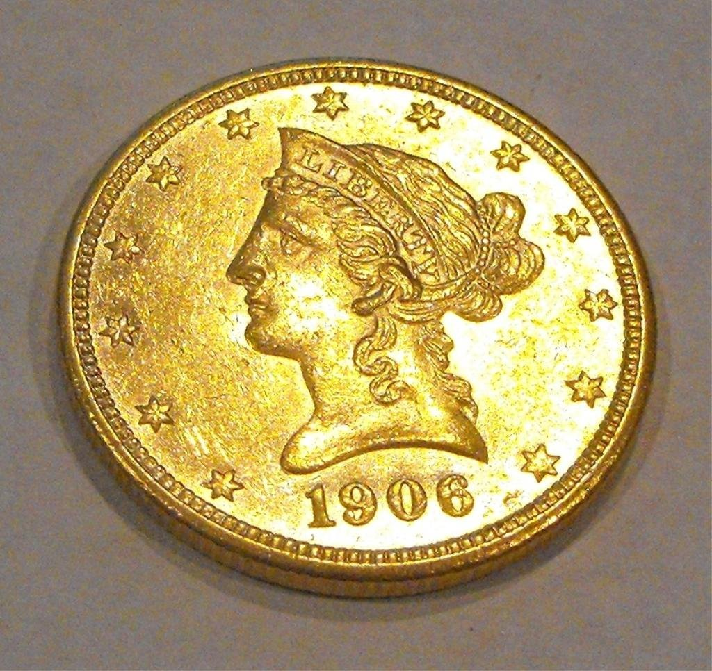 6: 1906 D $ 10 Gold Liberty - Some Mint Luster