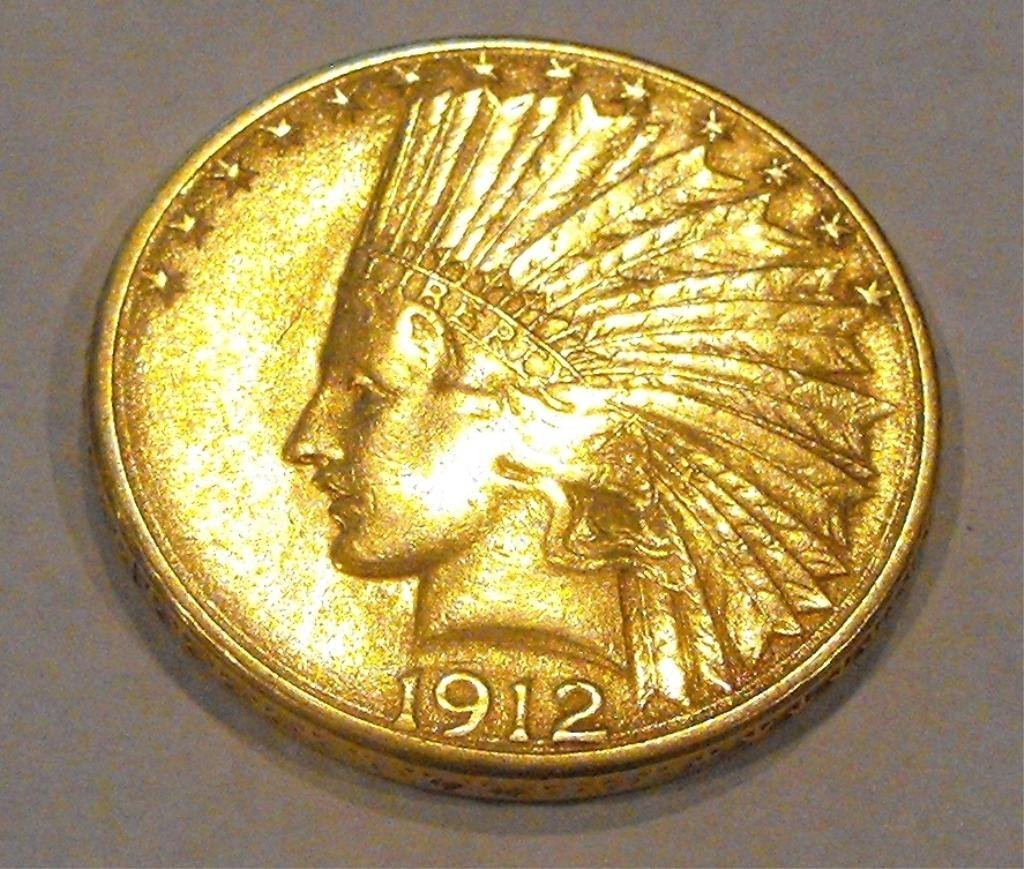 8: 1912 S $ 10 Gold Liberty Coin