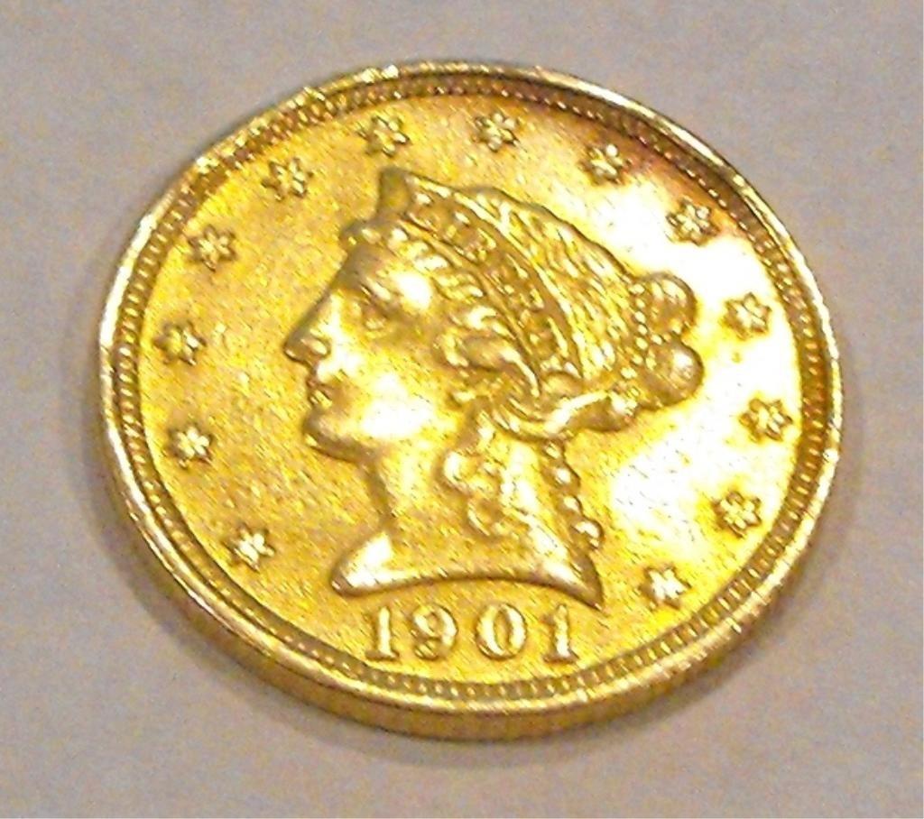 12: 1901 P $ 2.5 Gold Liberty Coin