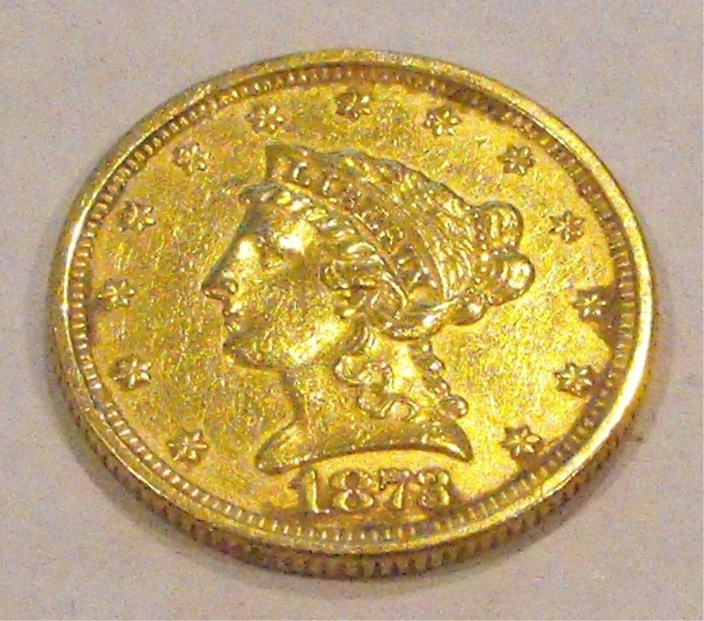 14: 1873 $ 2.5 Gold Liberty Coin