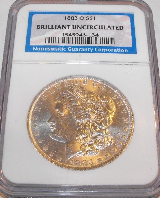 18: 1883 O BU Morgan SIlver Dollar NGC