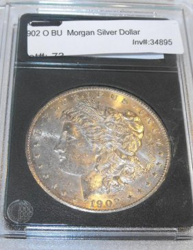 1902 O BU Slabbed Morgan Dollar
