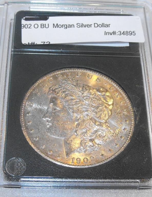 26: 1902 O BU Slabbed Morgan Dollar