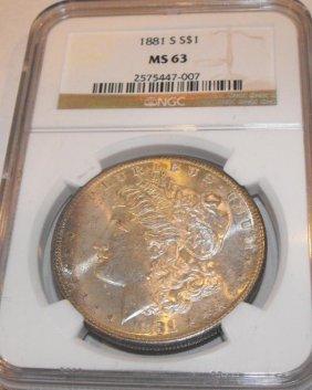 1881 S MS 63 NGC Morgan Dollar