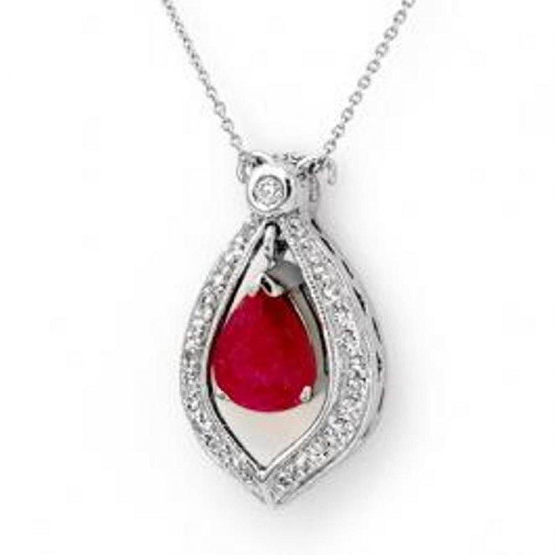 3W: 4.4 ctw Ruby & Diamond Necklace