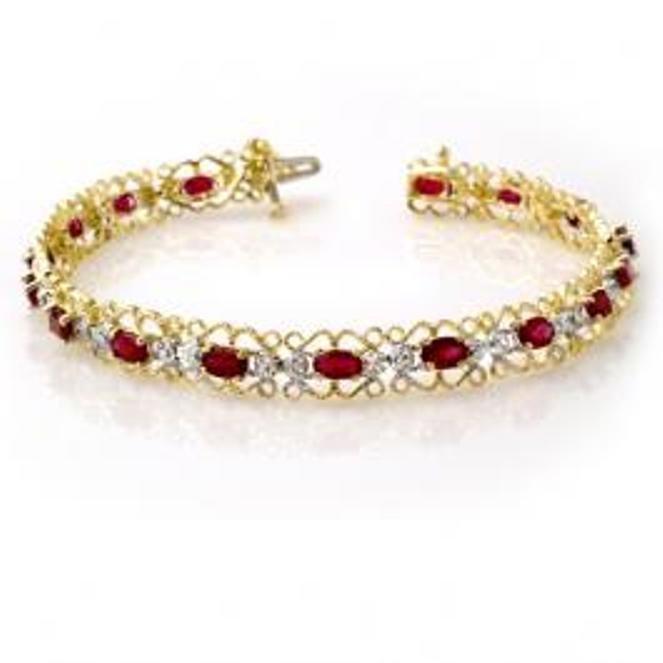 8W: 4.22 ctw Ruby & Diamond Bracelet