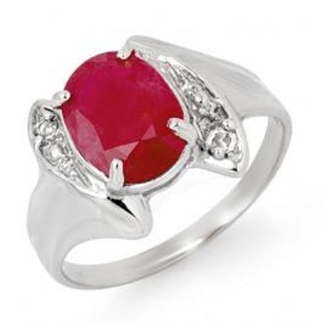 5D: 3.12 ctw Ruby & Diamond Ring 14K