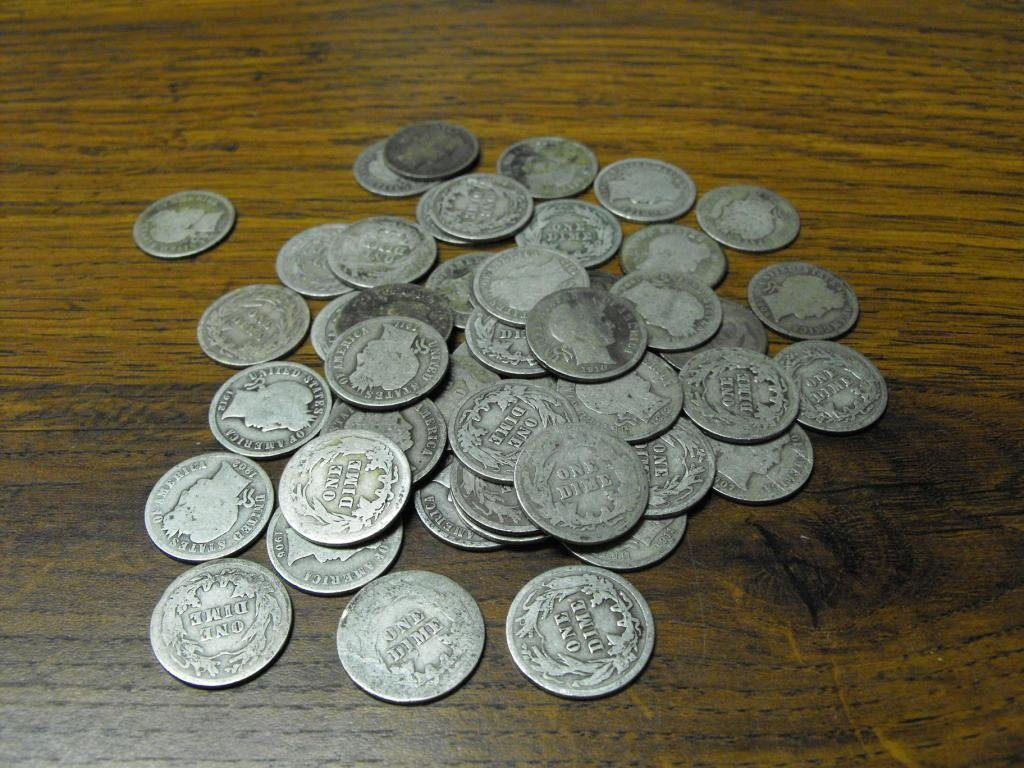 71S: (50) Barber Dimes- Circulated