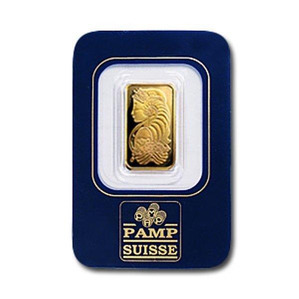 2C: 2.5 Gram Pamp Suisse Gold Ingot