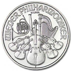 (10) Austrian Philharmonic Silver Bullion 1 Oz