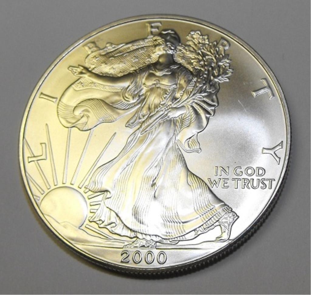 5C: Random Date Silver Eagle - UNC