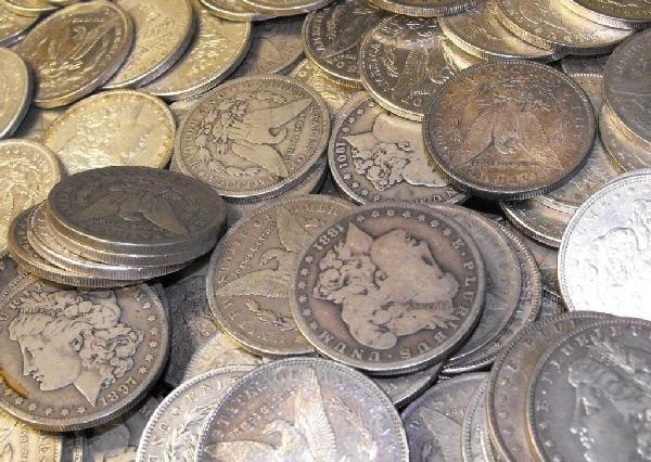 8C: Lot of 50 Morgan Dollars ag-au