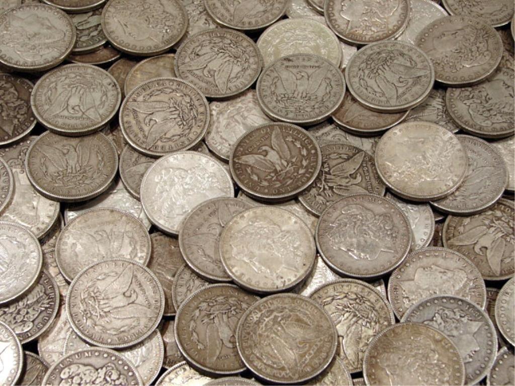 4R: (100) Morgan Silver Dollars - AG -AU