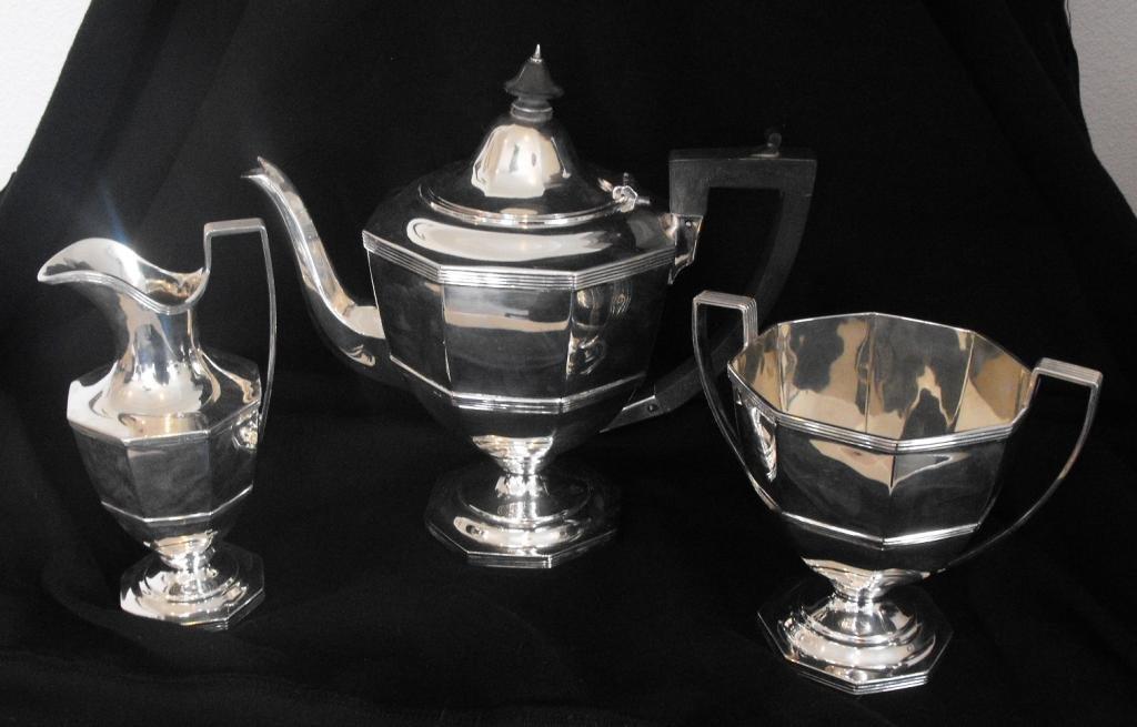 2L: Martin Hall & Co. Ltd Sterling Tea Service